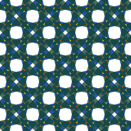 Geometric seamless vector pattern of big and small triangles. Regular colourful structure on white background. Great for wallpaper, stationery, wrapping paper and interior textiles.