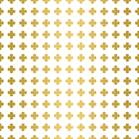 Delicate gold four leaf  water clover pattern.