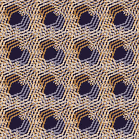 Modern abstract vector pattern design created of overlapped geometric zig zag shapes. Seamless background, great for fabric, wallpaper and packaging projects.