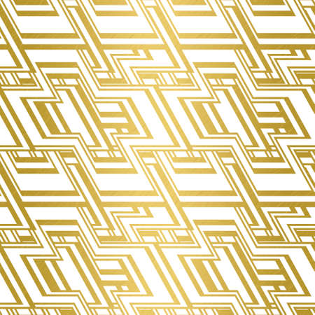 Modern simple seamless vector pattern with scratched gold texture on white background. Repetitive geometric cross shapes with stripes for fabrics, prints and wallpaper.