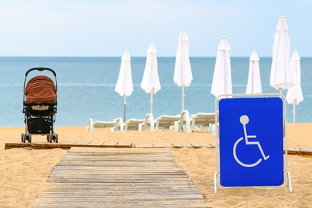 beach access: Beach access for the disabled in the summer