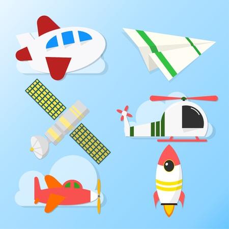 飛行機と衛星