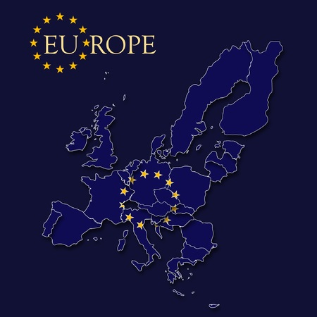 map of europe Ilustracja