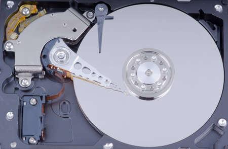 internals: Hard drive internals closeup