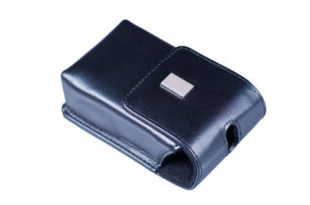 point and shoot: Black leather case for digital point and shoot camera