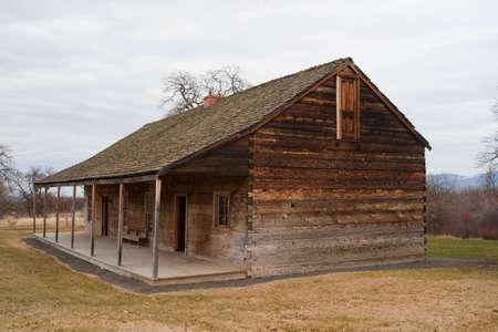 barracks: Barracks at historic Fort Simcoe Washington USA