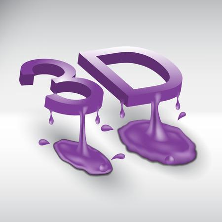 liquid: abstract logo symbol 3d consisting of liquid Illustration