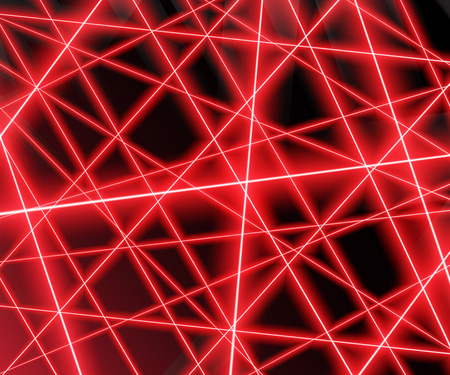 Red laser beams on a black background,eps 10