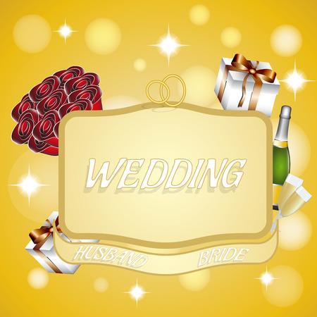 represent: banner to represent a wedding for design