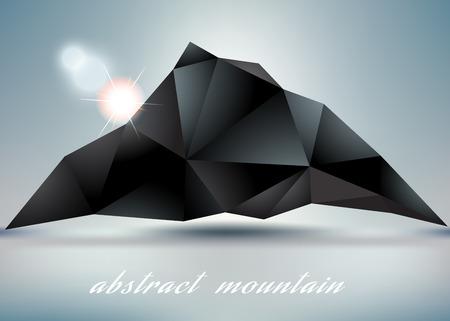 hillock: abstracta backgrond monta�a con sol por dise�o abstracto Vectores