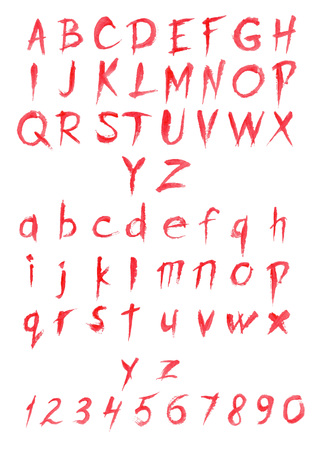 Bloody Red Latin Alphabet. Spooky Dripping Blood Letters, Use ...