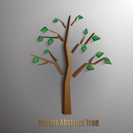 foliages: vector abstract tree with green foliages,eps 10