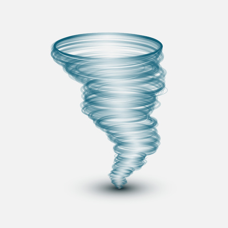 windstorm: The Abstract tornado on white background.Vector illustration