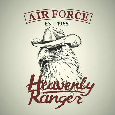 heavenly: Eagle is a heavenly ranger.Hand drawn style. Prints design for t-shirts Illustration