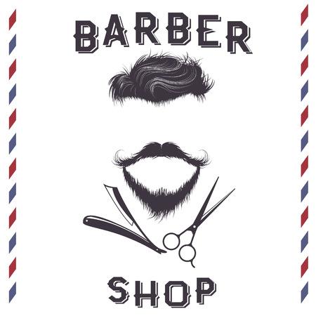 Etiqueta para peluquería design.Vintage style.Vector ilustración