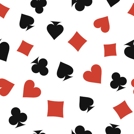 preference: seamless pattern with symbol of playing cards Stock Photo