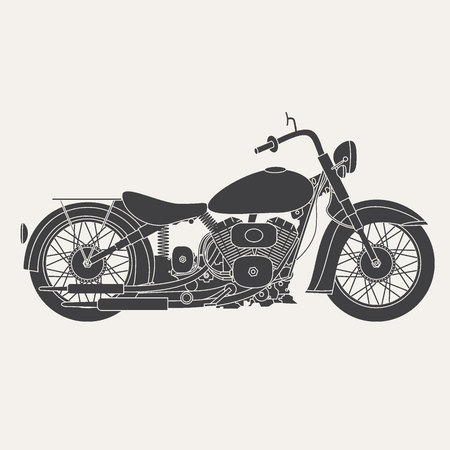 motorbike isolated on white background.Transportation design.Vector illustration