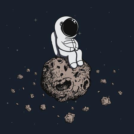asteroid: Astronaut travel on asteroid