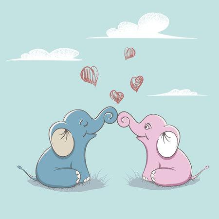 elephants love each other