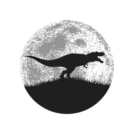 tyrannosaur: Silhouette of the tyrannosaur