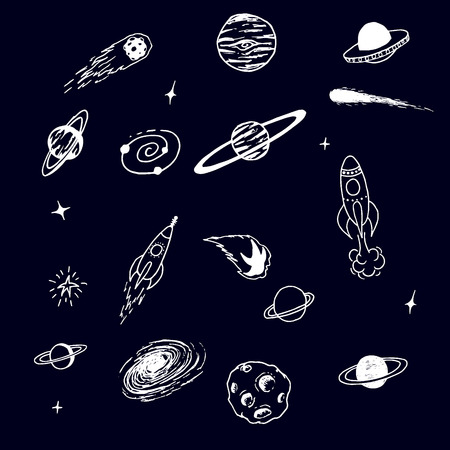 Collection of space cosmic object