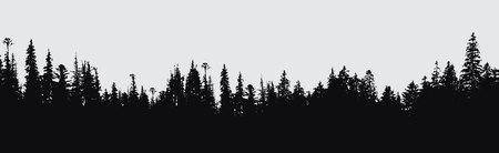 forest silhouette background.