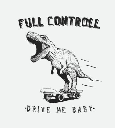 tyrannosaur: tyrannosaur rides on skateboard
