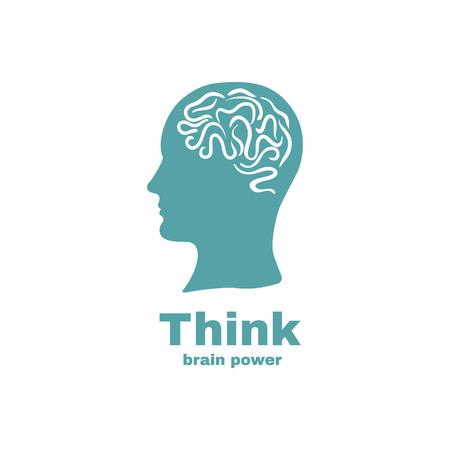脳のアイコンのデザイン。