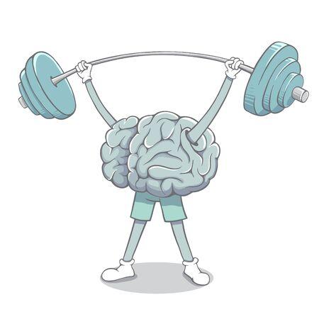 brain raises the barbell
