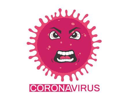 personage Coronavirus vector Ilustração
