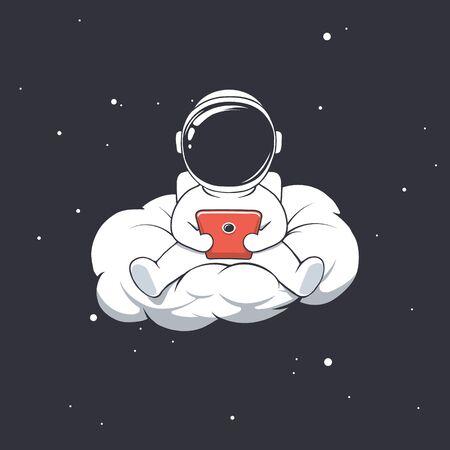 astronaut writes message on cloud