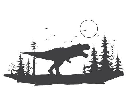 Tyrannosaurus in forest