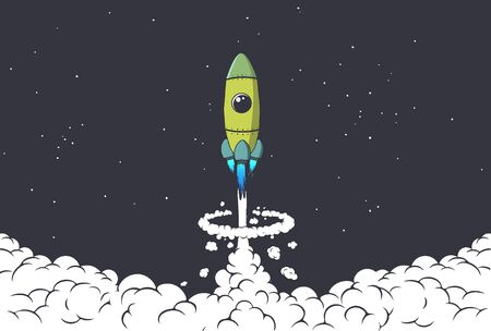 rocket launch to space
