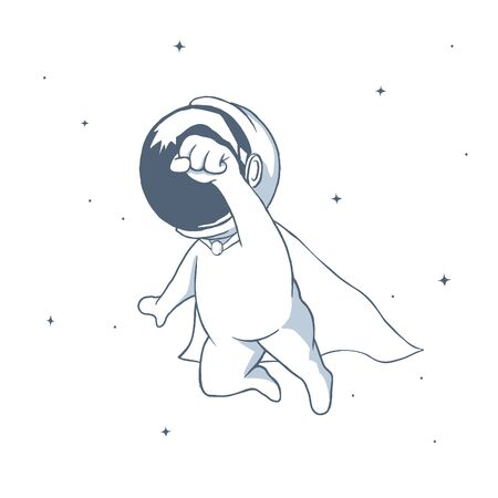 Astronaut flies like a superhero