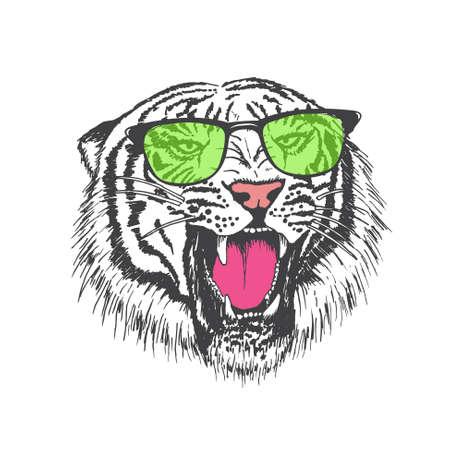 tiger in sunglasses