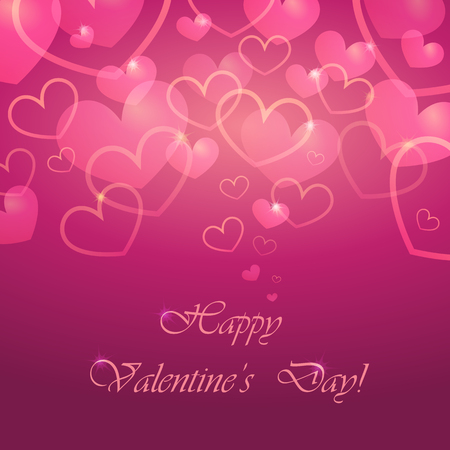 Vector greeting card for Valentines Day