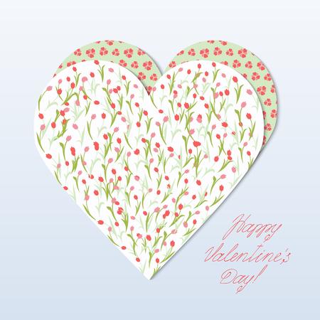 Herz-Umschlag Mit Tulpen Und Blumen In Form Von Herzen. Rosa Tulpen ...