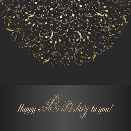 happy: Happy birthday card Illustration