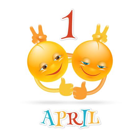 April Fools Day vector card