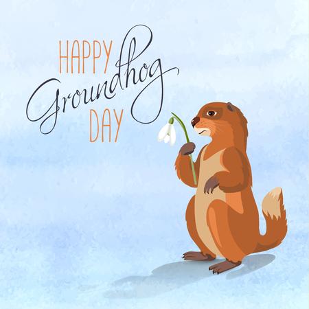Happy Groundhog card
