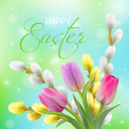 Happy Easter card design vector illustration