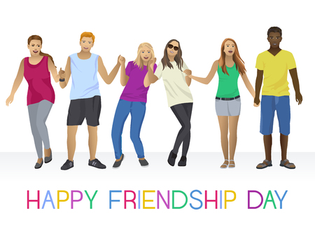 Happy friendship day Çizim