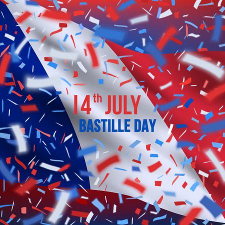 Happy Bastille day celebration banner