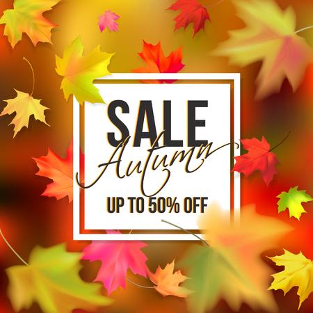 Autumn typographic sale