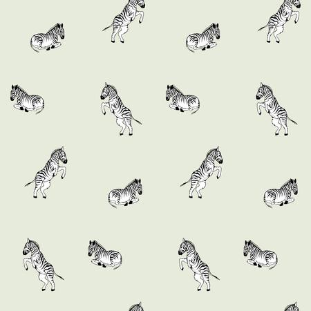 vector illustration zebra repeat pattern print Illustration