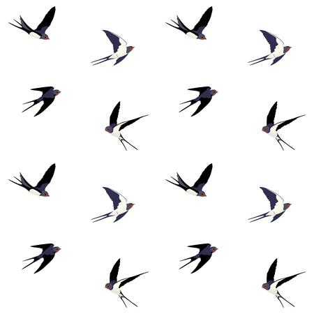 seamless birds pattern Stock Illustratie