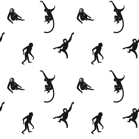 seamless monkeys pattern Stock Illustratie
