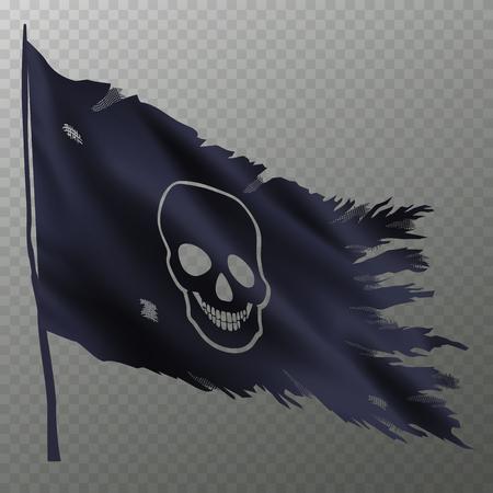 Halloween flag with skull Stock Illustratie