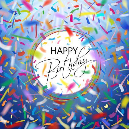 Happy birthday card with confetti