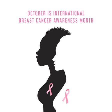 Breast cancer awareness month card.